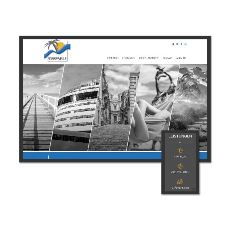 K.HERMES Grafik & Webdesign - diereisewelle-HP